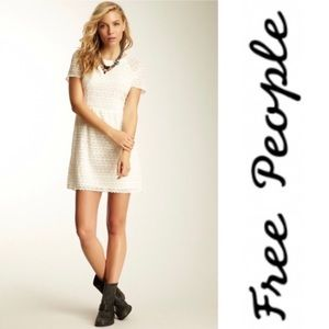 FREE PEOPLE Candy Woven Lace Short Sleeve Dress